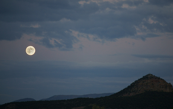 Full Moon rising on the Grand Mesa