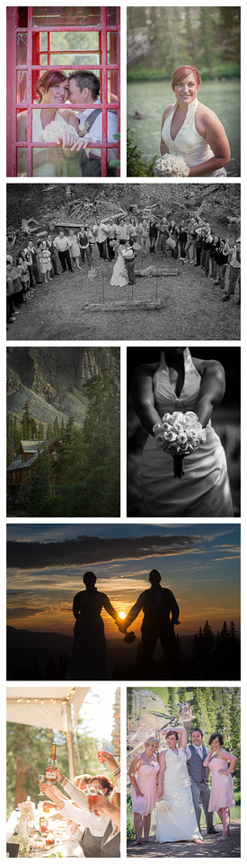 "telluride colorado wedding ""captured by Karen"""